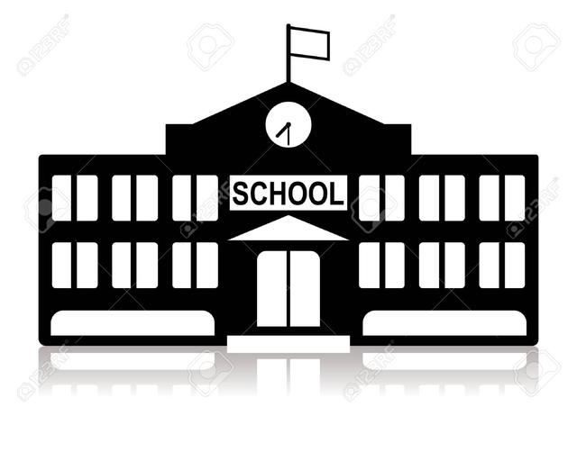 free black and white school house clipart - photo #29